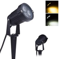 Wholesale X Wedge Black W LED Garden Light V IP65 LED Lawn Spike Lights Years Warranty