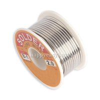 Wholesale 2 mm New Tin Lead Tin Wire Melt Rosin Core Solder Soldering Wire Roll E5M1 order lt no track