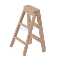 Wholesale 1 Dollhouse Miniature Furniture Wooden Ladder