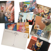 Wholesale PrettyBaby Zootopia postcard Greeting Cards Collector Retro Postcards Cartoon Paper Greeting Card Thank You Card Gift Cards set