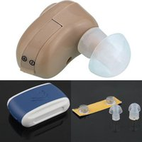 Wholesale by DHL or EMS pieces Digital Hearing Aid In Ear Mini Size Sound Amplifier CE FDA approved
