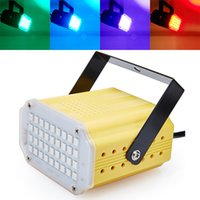 Wholesale Sound Control RGB SMD5050 LED Stage Light Disco Party DJ Club Strobe Lamp Music Show Stroboscope Bulb Projector Lighting