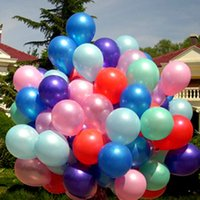 balloons pearlized - 100pcs Multicolor Pearlized Latex Balloons Solid Color inch Pearl Latex Balloons Wedding Party Decorations1 g Globes Supplies