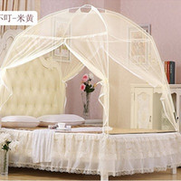 Wholesale New Fine Mesh Mongolian Yurt Mosquito Net Good Sleep Mosquito Nets For Double Bed Netting With Zipper Double Door