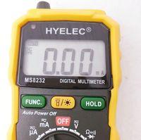 Wholesale 5pcs MS8232 Mini Auto range data hold spotlight digital Multimeter DC AC Voltage Current Tester Ammeter Multitester