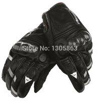 Livraison gratuite! 2014 nouveau dan / nes cuir Gants de moto de fibre de carbone gants de motocross dirt bike racing gants plein doigt noir