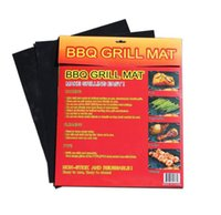 Wholesale Barbecue Grilling Liner Teflon BBQ Grill Mat Portable Non stick and Reusable Make Grilling mats per pack Black Oven Hotplate Mats DHL