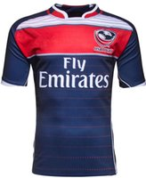 Wholesale NEW USE Rugby jersey Top HOME America BLK BLUE RWC NRL Super RUGBY home and away rugby jerseys Shirts