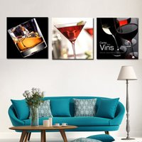 artwork and paintings - Wine and Cups Panels Abstract Canvas Prints Artwork Picture Paintings on Canvas Wall Art for Home Home Decorations