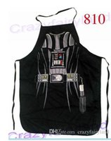 Wholesale Cartoon Waist - Apron Star Wars Top apron Spiderman Wonder women Anime Cartoon Character Series Kitchen Apron Funny Personality Cooking apron Christmas