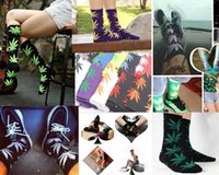 Wholesale Pair Men Cotton Maple Leaf Socks Long Fashion Plantlife Socks Long Skateboard Hip Hop Socks Meia Girl Unisex Hiphop Punk Stocking