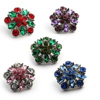 Wholesale high quality Metal crystal rhinestone Snap Button Charm Button Snaps Jewelry NOOSA chunk ginger snap jewelry for noosa bracelet