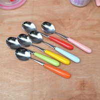 Wholesale scoop with ceramic handle stainless steel spoon convenience for eating watermelon and ice cream