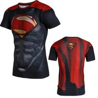 summer clothes for men - summer for men superman tights quick dry men tshirt breathable sweat tops with short sleeves fashion fitness clothing marvel men tshirt