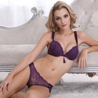 Wholesale WBS023 west fashion sexy lingerie underwear quality chinlon mesh lace tassles bra set including the panty