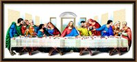 Wholesale last supper of Jesus Christ Customize Decorative Diamond Painting Cross Stitch Calligraphy D DIY Embroidery Rhinestone Wall Art Home Decor