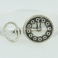 alarm clock charm - 15759 Antique Silver Vintage Bottle Opener Clock Pendant Alarm Clock Charm