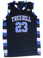 Wholesale Men s One Tree Hill Movie Nathan Scott Embroidered and Stitched Basketball Jersey