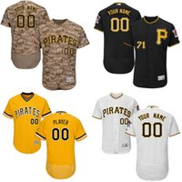 Cheap Free Shipping cheap Men's Custom Pittsburgh Pirates Baseball Jersey Flexbase Collection For Sale stitched size S-5XL