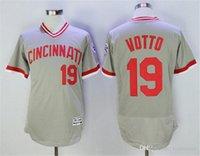 Wholesale 2016 Mens Flexbase Version Cincinnati reds Joey Votto Deion Sanders Gray Red white gray Baseball Jerseys Baseball Wear