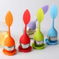 best iron food - Teapot Sweet Leaf Tea Infuser best Silicone Stainless Steel Leaf Tea Strainer with Food Grade make tea bag filter