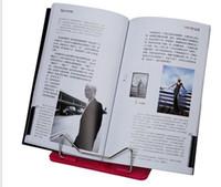 Wholesale DHL Portable Adjustable Steel Book Document Holder Frame Reading Desk Book Stand Bookrest Bookstand