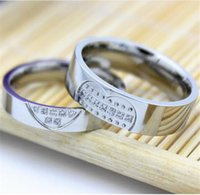 Wholesale Cheap fashion jewelry stainless steel Couple Rings Micro Pave Platinum diamond hot men and women