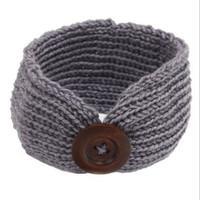 baby headbands crochet pattern - New Pattern Knit Winter Baby Headband Cute Crochet Boy Or Girls Earwarmer Baby Girls Crochet Headwraps with Button