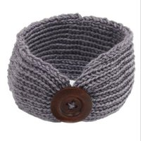 baby headbands knitting patterns - New Pattern Knit Winter Baby Headband Cute Crochet Boy Or Girls Earwarmer Baby Girls Crochet Headwraps with Button