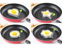 Wholesale by DHL Cook fried egg tools with heart shape flower shape kitchen tools made of high qulity stainless steel for breakfast