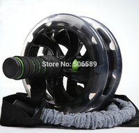 Wholesale body building fitness double wheeled Ab rollers HL with pulling rope