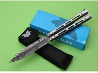 aluminum corrosion - Newest Benchmade JL Corrosion Butterfly Balisong Folding Knives Cr13Mov HRC Tactical Camping Hunting Survival Pocket Knives EDC Tools
