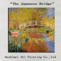 artist bridge - Artist Team Directly Supply High Quality Reproduction The Japanese Bridge Oil Painting On Canvas The Bridge Canvas Painting
