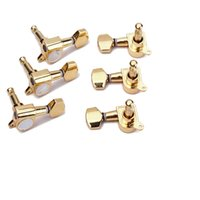 Wholesale 1set of R Guitar String Tuning Pegs Tuners Machine Heads Gold by Guitar bass tuning pegs
