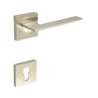 Wholesale Door Lever Handleset Door handle with Cylinder Hole Escutchoen Brush Nickel