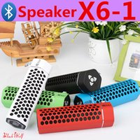 audio options - Wireless Bluetooth Speakers Sport X6 Speaker outdoor bluetooth speaker multi colored radio function options support Memory Card for iphone6