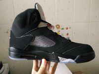 Wholesale basketball shoes retro Black Metallic men athletic shoes retail