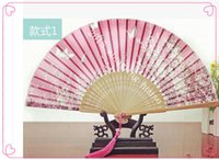Wholesale Japanese classical style cherry small folding fan gifts