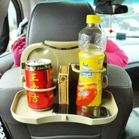 Wholesale Car Tray Food Car Stand Rear Seat Beverage Rack Water Drink Holder Bottle Travel Mount Accessory Foldable Meal Cup Desk Table W051