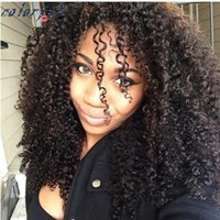 Wholesale HOT Glueless Full Lace Human Hair Wigs For Black Women Brazilian Afro Kinky Curly Wig Natural Lace Front Human Hair Wigs
