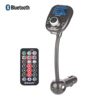 Wholesale Car MP3 Audio Player Bluetooth FM Transmitter With Remote Control Wireless FM Modulator Car Kit HandsFree LCD Screen USB Charger