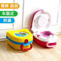 Wholesale Protable Travel Potties Plastic Baby Product Toilet Seat Pink Yellow Baby Portable Potty x23x10 CM High Quality