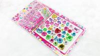 Wholesale Mixed Design sheets set Newest crystal sticker rhineston fashion design acrylic mirror sticker sheet diamond sticker