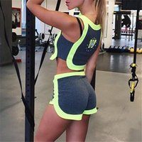 american auto luxury - 2016 New Arrival Women Sportsuits Luxury European and American Style Sexy Leisure Printing Short T Shirt Shorts Fashion Women Tracksuits