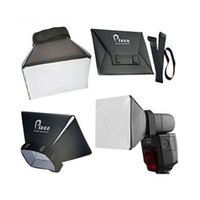 Wholesale Diffused flash light looks more natural Universal Foldable Soft Box Flash Diffuser Softbox for Canon Nikon Sony Pentax NGH4112504A