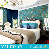 Wholesale imple D stereoscopic relief European wall covering TV background wallpaper bedroom living room WALLPAPER