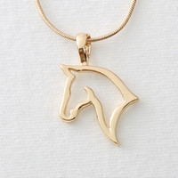 Wholesale Hot Sale I Love Cute Horse Pendant Necklaces Lady Dressing Horse Necklaces FN013