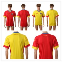 romania-soccer-jersey - NEW Romania jersey Euro Home Away Romania Yellow red soccer Jerseys Cheap Top Quality Men Football Shirts Soccer Jersey