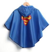 Wholesale 2016 New high quality Kids Rain Coat children Raincoat Rainwear Rainsuit Kids Waterproof Superhero Raincoat DHL free ship