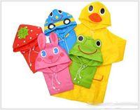 Wholesale Cute New Kids Children Raincoats Boys Girls Cartoon Animal Raincoat Rainwear Child Rainsuit Waterproof Rain Coat Colors